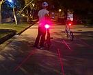 Велофонарь, габарит лазер, задний велофонарь с лазерами TyT, фото 3