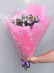 Букет из фиолетовой эустомы 10 шт.
