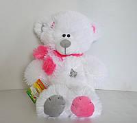 Мягкая игрушка  белый Мишка с серый носом  43 х 26 см, фото 1