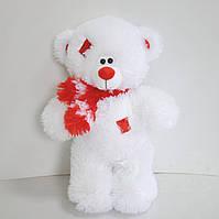 Мягкая игрушка  белый мишка  43 х 26 см с красной отделкой, фото 1