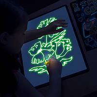 Доска для рисования светом А3 (42х30 см) двухсторонняя, Украина