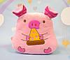 Мягкая розовая свинка 29 х 29 см
