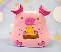 Мягкая розовая свинка 29 х 29 см, фото 1