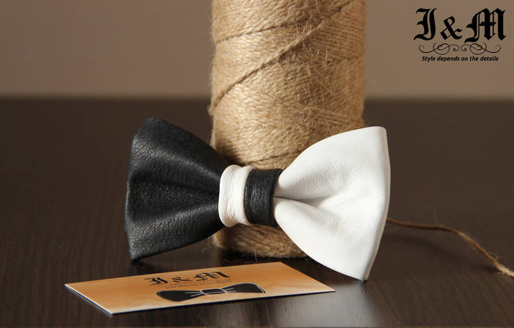 Кожаная галстук-бабочка I&M (010833), фото 2