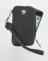Чехол для телефона Lamborghini Aventador D1 leather sleeve with zipper for iPhone 4, black