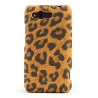 Кожаный чехол-накладка для телефона Nuoku LEO stylish leather cover for HTC Rhyme G20, brown