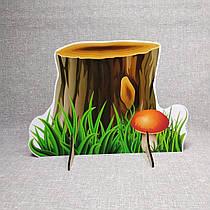 Осенний пень с грибочком. Напольная декорация
