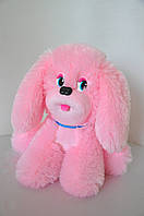 Мягкая игрушка. Собака  29 х 32 розовый