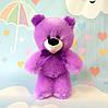 Мягкая игрушка сиреневый медведь  34 х 25 см