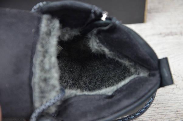 Мужские кожаные зимние ботинки Caterpillar  (Реплика) (Код:Б 707 чер  ) ►Размеры [41], фото 2
