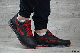 Мужские кожаные кроссовки Reebok (Реплика) (Код: R-16 ч.к) ► Размеры в наличии  [40,41,42,43,44]