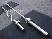 Гриф олимпийский для тяжелой атлетики Динамо, максимальная нагрузка до 600 кг, диаметр 50 мм, с замками, фото 1