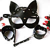 Кожаная маска кошки Cat Ear BDSM, фото 3