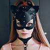 Кожаная маска кошки Cat Ear BDSM, фото 5