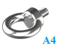 Болт с кольцом (рым-болт) из нержавеющей стали А4