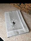 Скатерть для стола серая с вышивкой, фото 2
