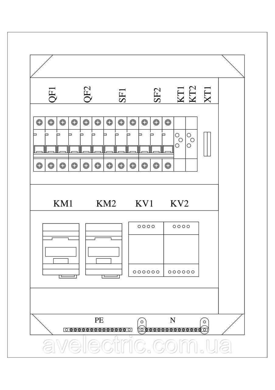 Шит автоматического ввода резерва АВР-200-25-54У3