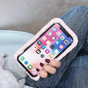 Меховой чехол для  Samsung A30  Pink, фото 2