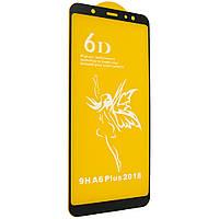 Защитное стекло 6D Premium для Samsung A605 Galaxy A6 Plus 2018 черный