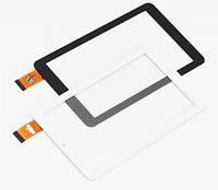 """Сенсор (Тачскрин) для планшета 7"""" GoClever Quantum 700 (184x104 мм, 30 pin) без выреза под динамик (Белый)"""
