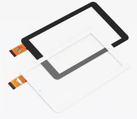"""Сенсор (Тачскрин) для планшета 7"""" GoClever Quantum 700 (184x104 мм, 30 pin) без выреза под динамик (Черный)"""
