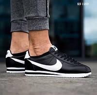 ]Мужские кроссовки Nike Cortez (черно/белые)
