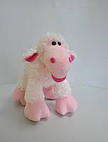 Мягкая игрушка . Овечка  35 х 32 розовая, фото 1