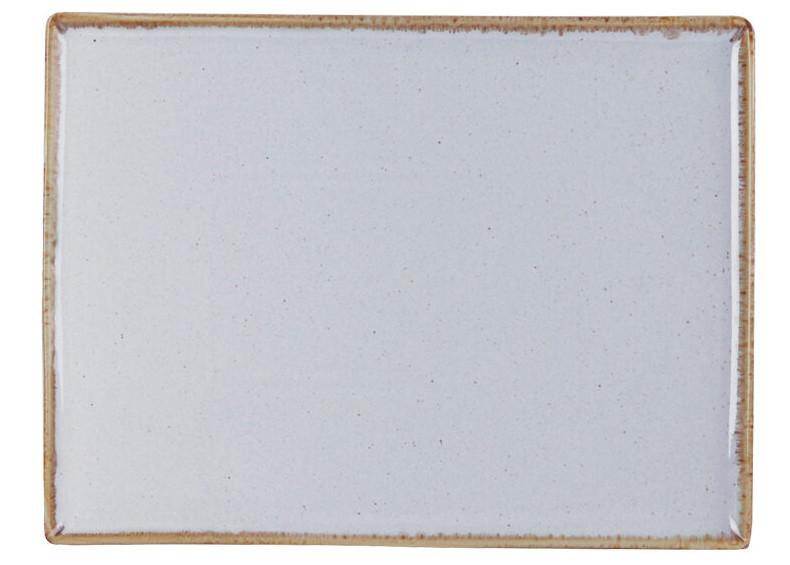 Тарелка мелкая прямоугольная - 18 х 13 см, Серая (Porland) Seasons Gray