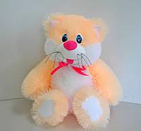 Мягкая игрушка .  Котик 42 х 25 абрикос, фото 1