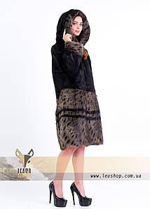 Шуба - рысь из натурального меха