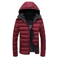 Куртка мужская зима-осень, бордовый пуховик СС-5261-91
