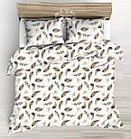 """Отрез ткани """"Перья куропатки"""" коричневые на белом №2225а, размер 50*160 см, фото 5"""
