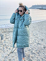 Куртка женская зимняя. Цвет: фисташка, нежно-розовый, черный, белый