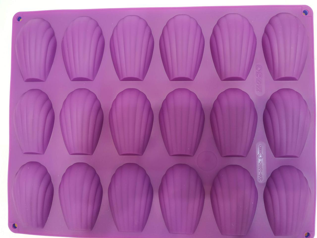 Силиконовая форма для печенья Мадлен 18 шт