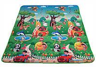 Детский развивающий игровой коврик «Приключение животных» 1800×1800×5мм