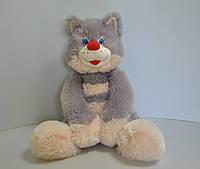 Мягкая игрушка .Кот  55 х 34 серый, фото 1