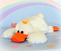 Мягкая игрушка утка  23 х 38 см, молочный, фото 1