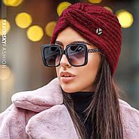 Женская шапка чалма с люрексом, разные цвета
