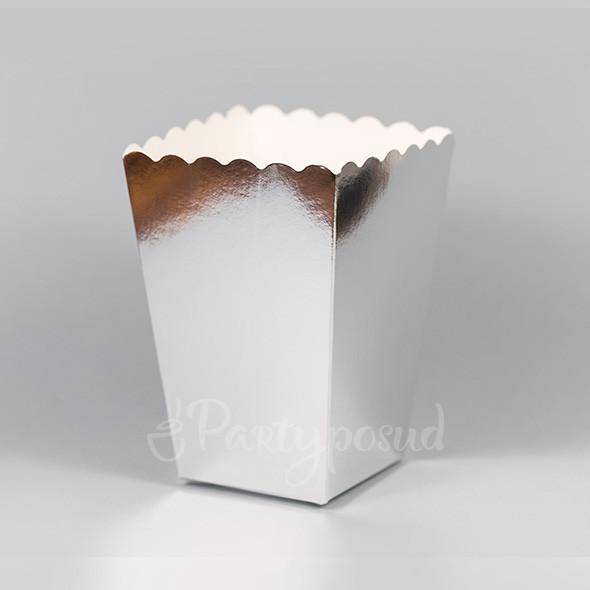 Форма бумажная серебряная