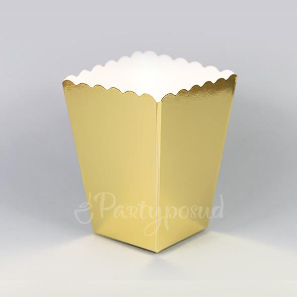 Форма бумажная золотая