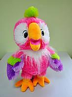 Мягкая игрушка. Попугай Кеша  розовый 50 х 36