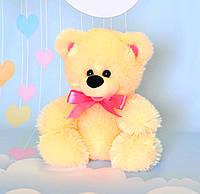 Мягкая игрушка медведь кремовый сидячий 24 х 22 см, фото 1