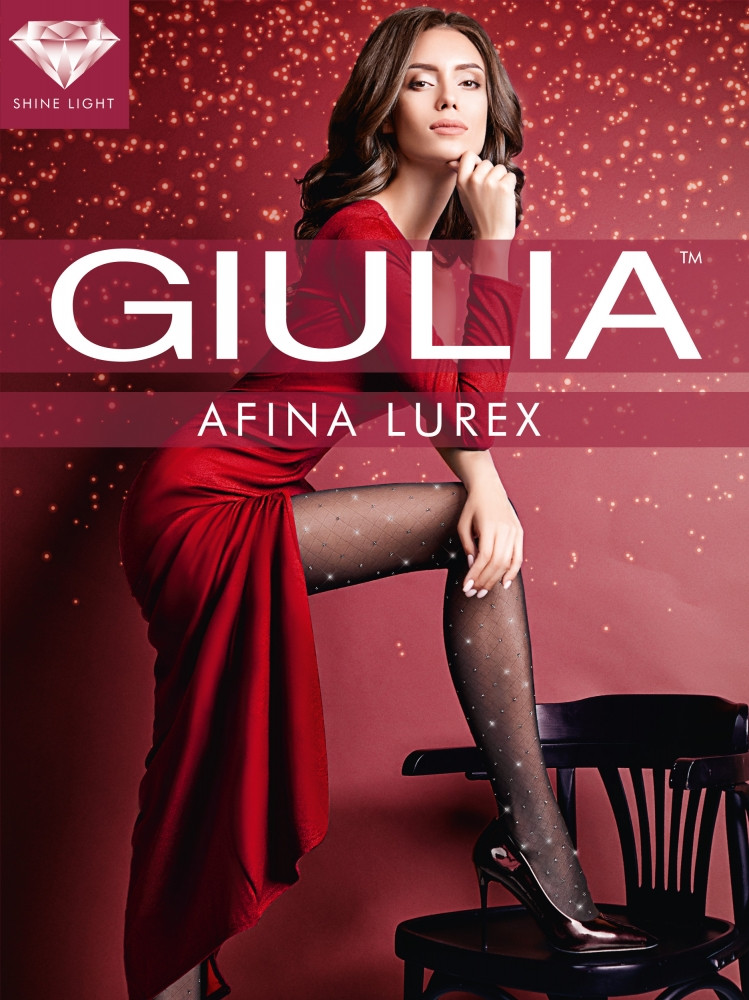 Фантазийные колготки в люрексовый горох на сетке Giulia Afina Lurex 40 den