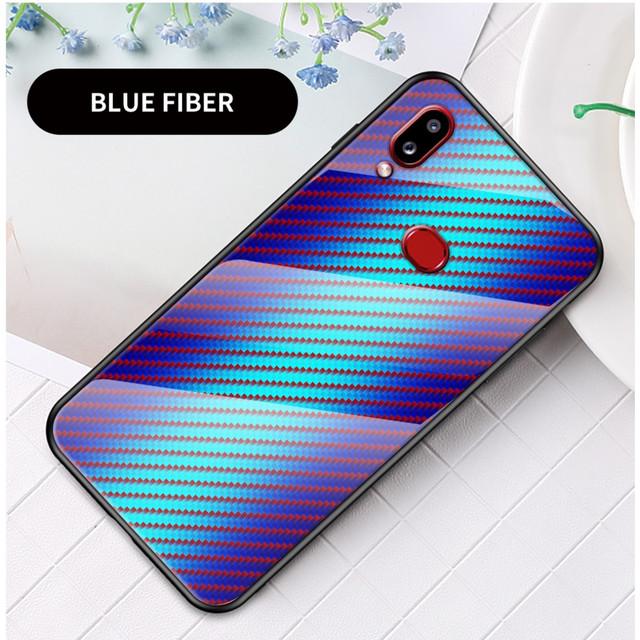 Samsung Galaxy a10s чехол накладка с зеркальной поверхностью голубой