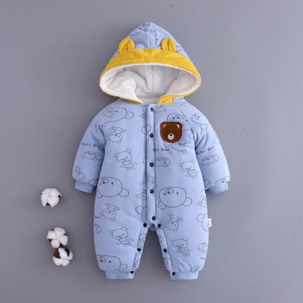 Утеплённый человечек  с капюшоном для новорожденных (73 см)