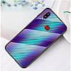 Чехол накладка для Samsung Galaxy A10s A107FD с зеркальной поверхностью,  Карбон, голубой, фото 2