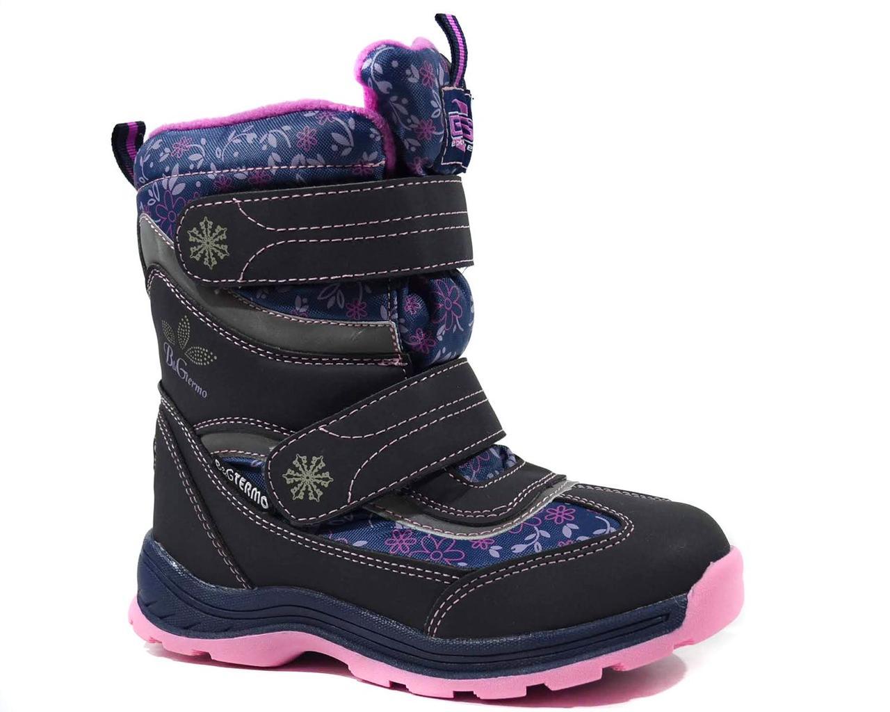 Фиолетовые термоботинки для девочки B&G р 32