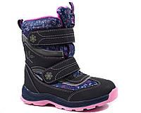 Фиолетовые термоботинки для девочки B&G р 32, фото 1
