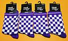Носки Neseli Athletic Шахматы фиолетовые 2205, фото 2