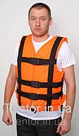 Страховочный жилет без карманов  XXL-XL оранжевый, фото 1